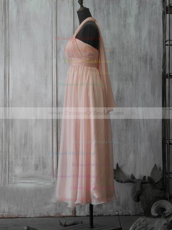 Sweetheart A-line Tea-length Chiffon Beading Bridesmaid Dresses #DOB02017891