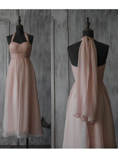 Sweetheart A-line Tea-length Chiffon Beading Bridesmaid Dresses #DOB02017891