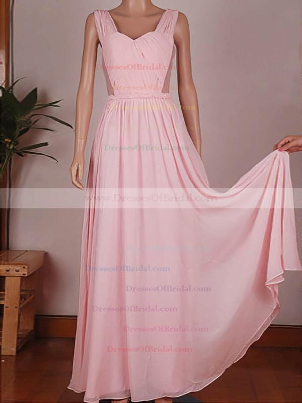 Sweetheart A-line Floor-length Chiffon Tulle Ruffles Bridesmaid Dresses #DOB02017734