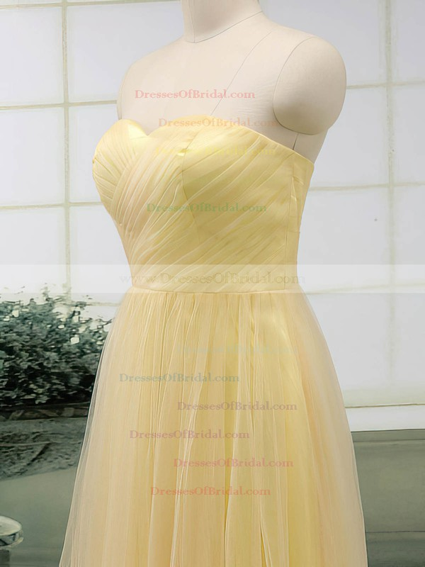 Sweetheart A-line Floor-length Tulle Ruffles Bridesmaid Dresses #DOB02017513