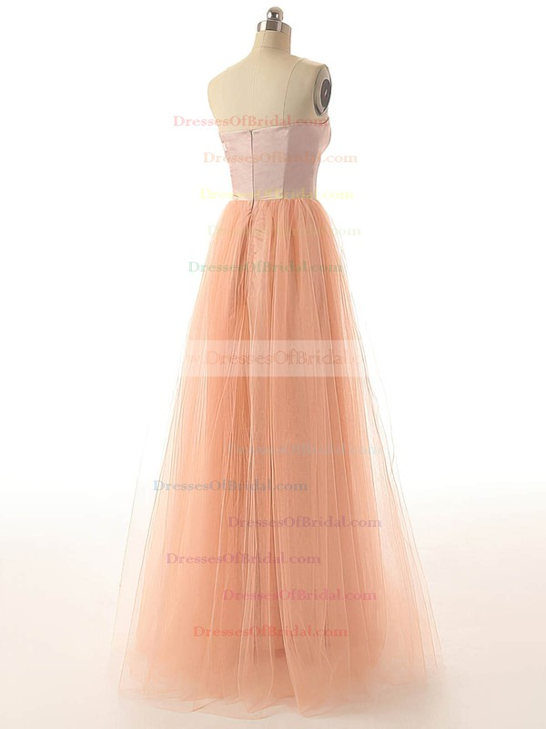 Sweetheart A-line Floor-length Tulle Sashes / Ribbons Bridesmaid Dresses #DOB02017528