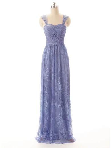 Sweetheart Sheath/Column Floor-length Lace Pleats Bridesmaid Dresses #DOB02017556