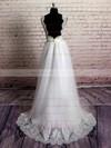 Sweetheart Princess Sweep Train Organza Appliques Lace Wedding Dresses #DOB00021229