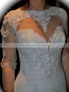 Scoop Neck Trumpet/Mermaid Chapel Train Tulle Beading Wedding Dresses #DOB00021378