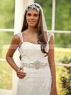 Sweetheart A-line Chapel Train Lace Taffeta Beading Wedding Dresses #DOB00021251