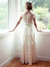 Scoop Neck Ball Gown Floor-length Lace Chiffon Tulle Sashes / Ribbons Wedding Dresses #DOB00021315
