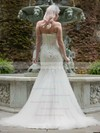 Sweetheart Trumpet/Mermaid Court Train Tulle Appliques Lace Wedding Dresses #DOB00021336