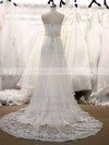Sweetheart A-line Court Train Tulle Appliques Lace Wedding Dresses #DOB00021355