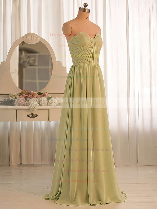 Floor-length Chiffon Ruffles For Cheap Sweetheart Bridesmaid Dresses #DOB01012412