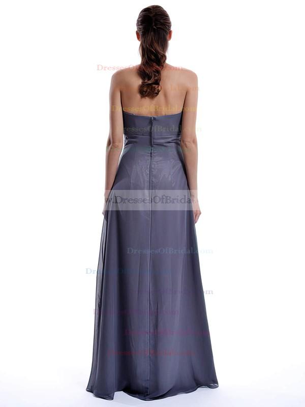 Sweetheart A-line Floor-length Chiffon Ruffles Bridesmaid Dresses #DOB01012432