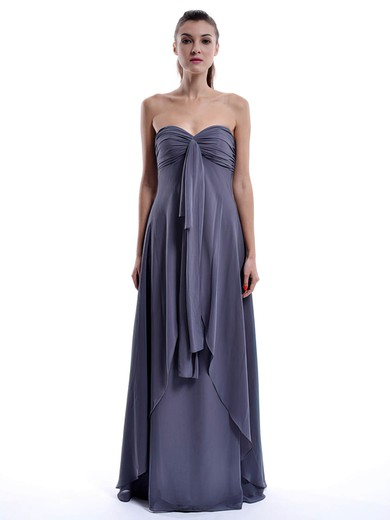 Sweetheart A-line Floor-length Chiffon Ruffles Bridesmaid Dresses #DOB01012432
