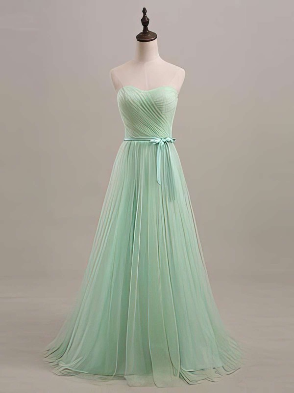 Affordable Ball Gown Tulle with Sashes/Ribbons Sweetheart Bridesmaid Dresses #DOB01012446