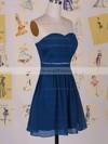 Sweetheart A-line Short/Mini Chiffon Beading Bridesmaid Dresses #DOB01012458