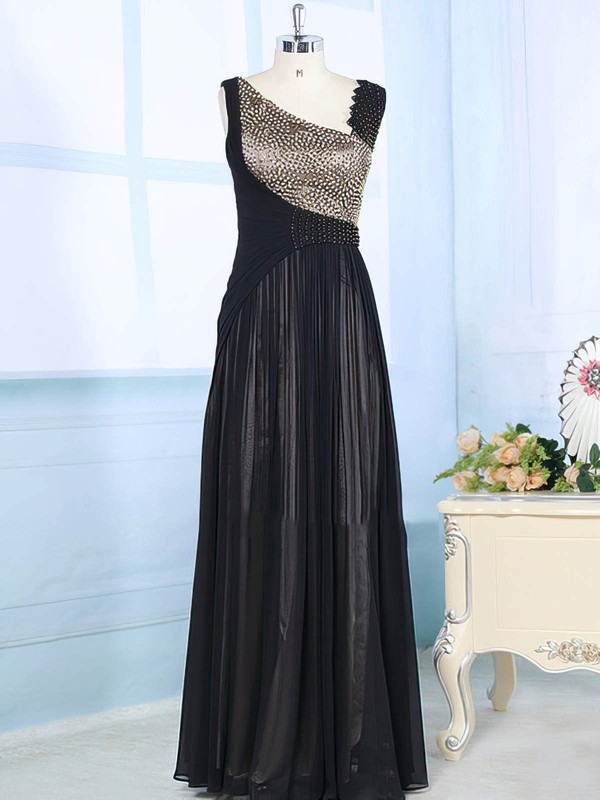 Multi Colours Chiffon Elastic Woven Satin with Beading A-line Beautiful Mother of the Bride Dress #DOB01021565