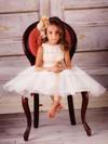 Scoop Neck A-line Tea-length Tulle Appliques Lace Flower Girl Dresses #DOB01031829