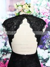 Top V-neck Lace Open Back Black Knee-length Sheath/Column Mother of the Bride Dress #DOB01021573