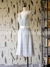 V-neck A-line Knee-length Lace Chiffon Sashes/Ribbons Mother of the Bride Dresses #DOB01021597