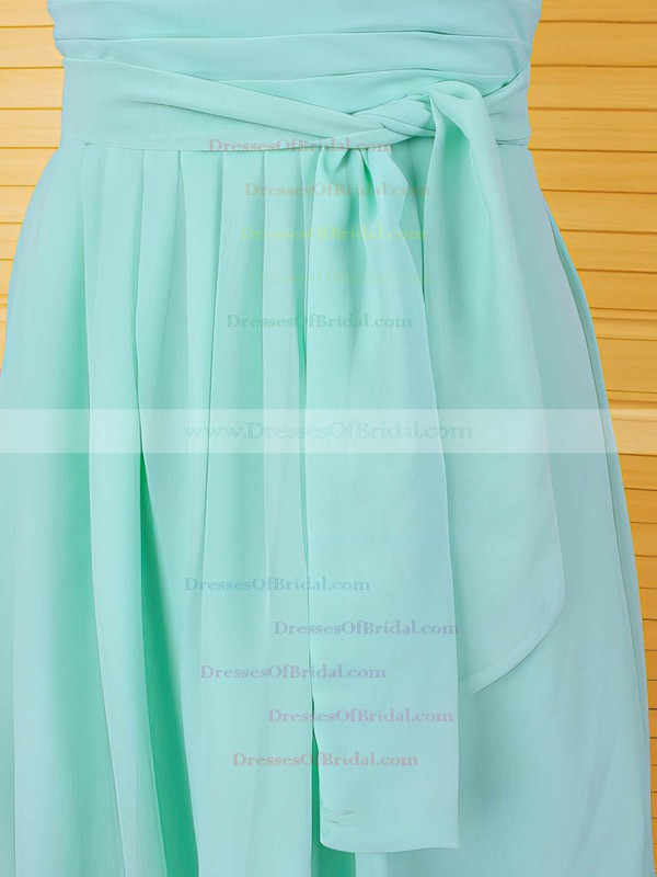 For Cheap Knee-length Chiffon with Ruffles Cap Straps Scoop Neck Mother of the Bride Dress #DOB01021611