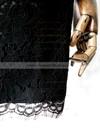 Online Scoop Neck Black Lace 1/2 Sleeve Sheath/Column Mother of the Bride Dresses #DOB01021612