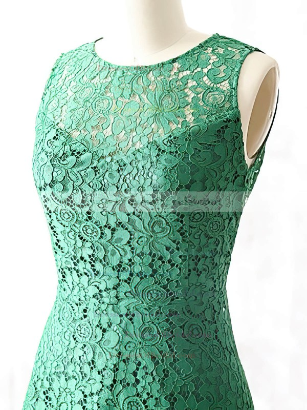 Scoop Neck Gorgeous Open Back Green Lace Short/Mini Mother of the Bride Dress #DOB01021615