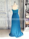 Wholesale Sweep Train Chiffon with Spaghetti Straps Ruffles V-neck Mother of the Bride Dress #DOB01021620