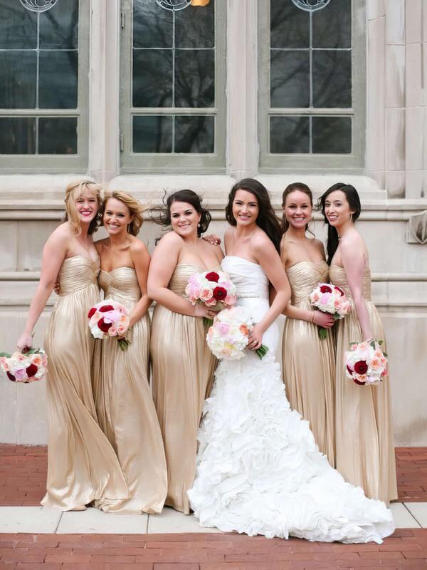 Sweetheart Empire Champagne Chiffon Ruffles Simple Bridesmaid Dress #DOB01012466