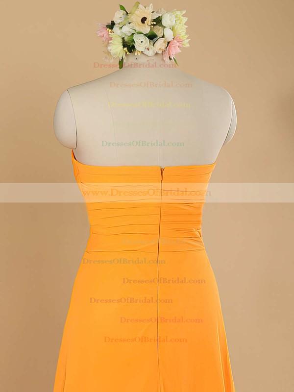 Simple Sweetheart Chiffon Ruffles Sheath/Column Sleeveless Bridesmaid Dress #DOB01012484