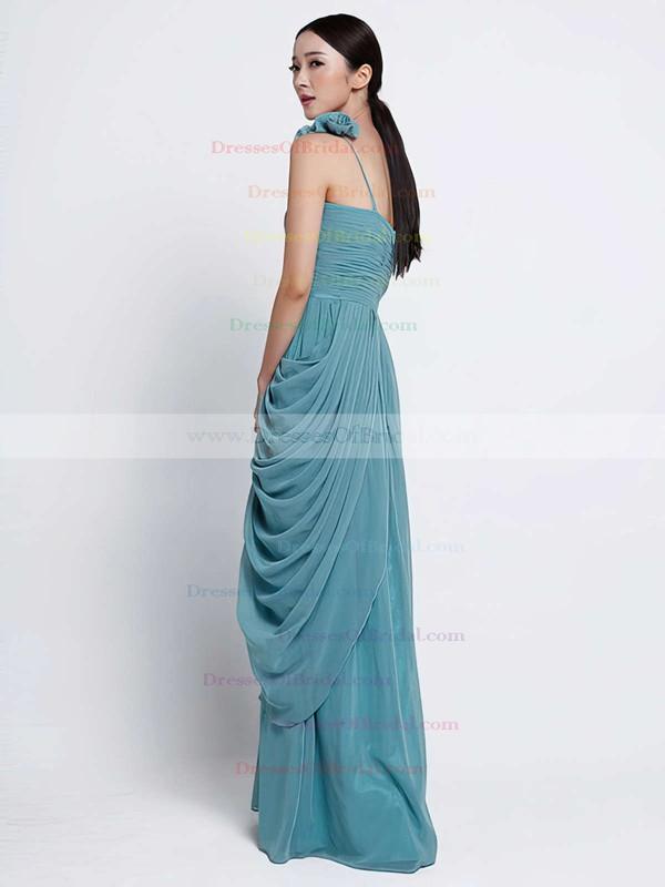 Gorgeous Sheath/Column Chiffon Cascading Ruffles One Shoulder Bridesmaid Dress #DOB01012486