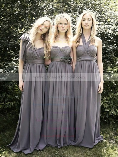 Hot Sweetheart Empire Floor-length Ruffles Chiffon Bridesmaid Dresses #DOB01012491