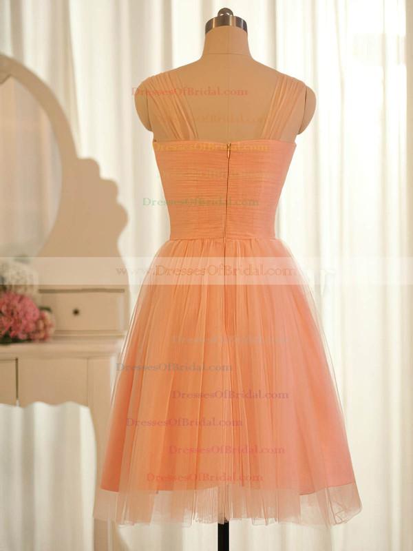 Orange Tulle Ruffles Sweetheart Online Knee-length Bridesmaid Dresses #DOB01012504