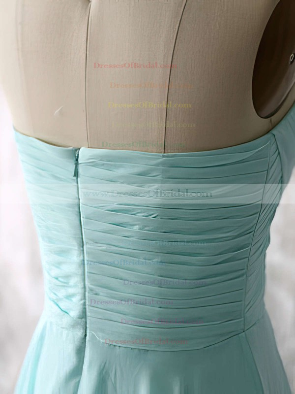 Nice Light Sky Blue Chiffon Ruffles A-line Sweetheart Bridesmaid Dresses #DOB01012535