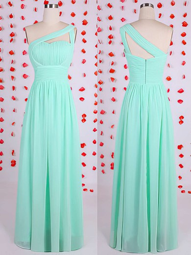 Floor-length Sheath/Column Ruffles One Shoulder Great Bridesmaid Dresses #DOB01012536