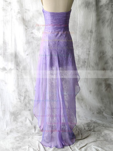Nice Lace Chiffon Sweetheart Sheath/Column Lavender Bridesmaid Dresses #DOB01012552