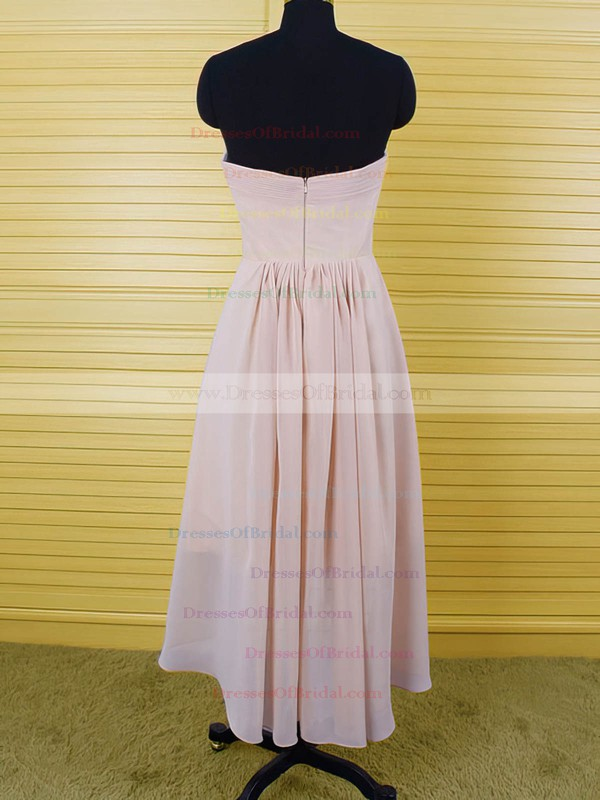 Sweetheart Asymmetrical Chiffon Ruffles High Low Bridesmaid Dresses #DOB01012553