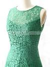 Open Back Elegant Lace Sheath/Column Scoop Neck Green Bridesmaid Dress #DOB01012561