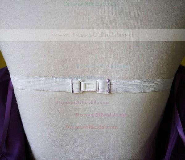 One Shoulder Empire Knee-length Chiffon Draped Bridesmaid Dresses #DOB01012213