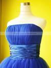 Strapless Empire Knee-length Tulle Draped Bridesmaid Dresses #DOB01012214