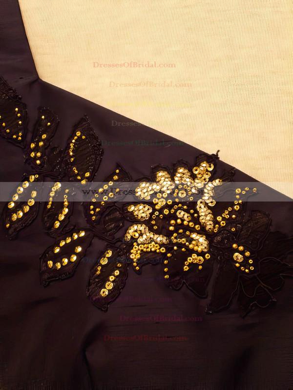 Original Knee-length Grape Satin with Beading V-neck Mother of the Bride Dress #DOB01021323