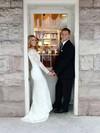 Scoop Neck Trumpet/Mermaid Court Train Lace Ruffles Wedding Dresses #DOB00021428