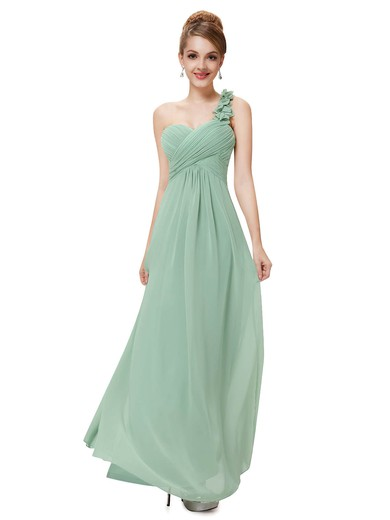 Beautiful Empire Chiffon with Ruffles One Shoulder Bridesmaid Dresses #DOB01012723