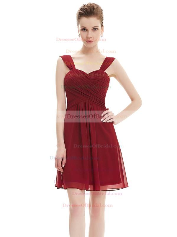Short/Mini Sweetheart Chiffon with Ruffles Junior Bridesmaid Dresses #DOB01012724