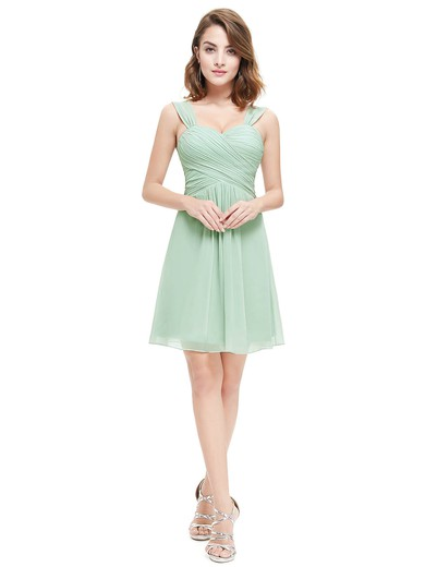 Short/Mini Sweetheart Chiffon with Ruffles Junior Bridesmaid Dresses #DOB01012724
