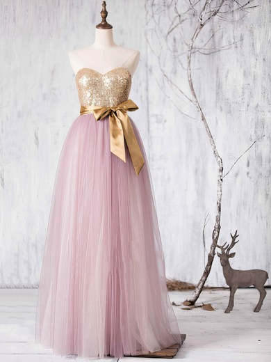 Multi Colours Tulle Sashes / Ribbons Sweetheart Princess Designer Bridesmaid Dresses #DOB01012727