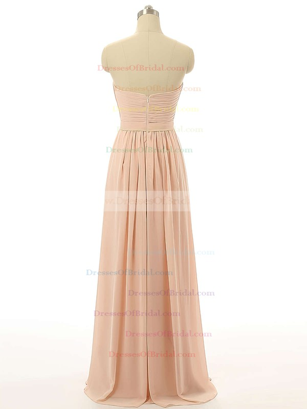 Sweetheart Floor-length Chiffon with Ruffles Girls Bridesmaid Dresses #DOB01012731