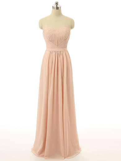 Sweetheart Floor-length Chiffon with Ruffles Girls Bridesmaid Dresses #DOB01012731