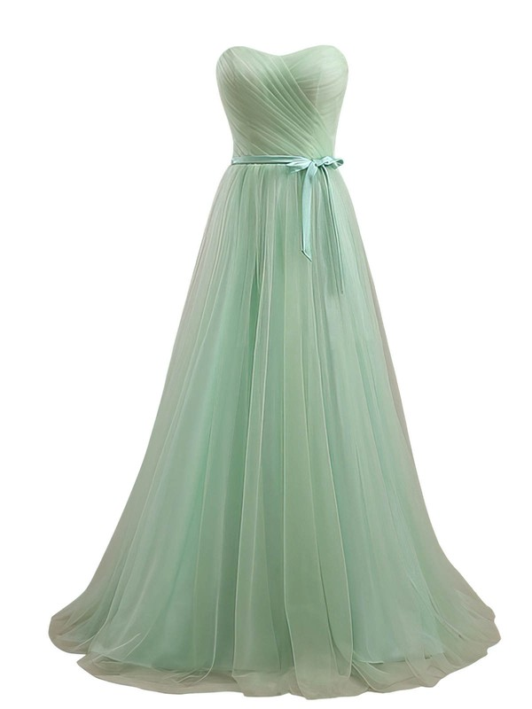 Sweetheart Floor-length Tulle Sashes / Ribbons Online Bridesmaid Dresses #DOB01012734