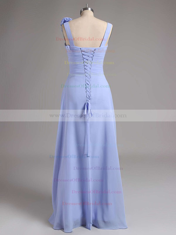 A-line Sweetheart Lavender Chiffon with Flower(s) Cheap Bridesmaid Dresses #DOB01012735