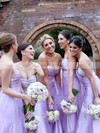 Modest Tulle Floor-length with Ruffles Sweetheart Bridesmaid Dresses #DOB01012749