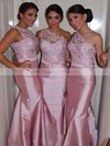 One Shoulder Taffeta with Lace Sexy Trumpet/Mermaid Bridesmaid Dresses #DOB01012750