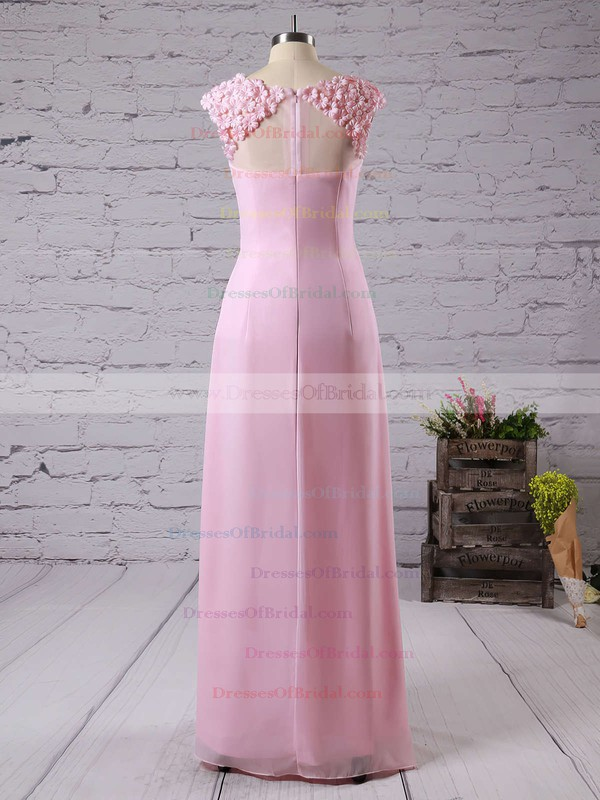 Scoop Neck Perfect Chiffon with Appliques Lace A-line Bridesmaid Dresses #DOB01012757